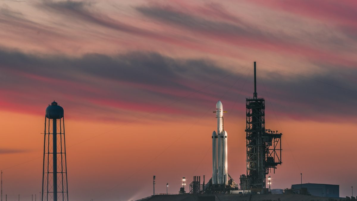SpaceX Falcon Heavy on the launch portal.