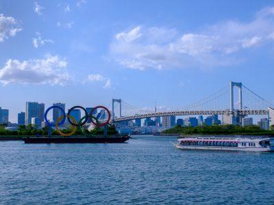 Olympic rings in Odaiba