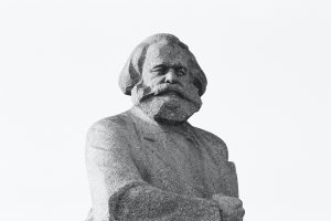 photo of statue of Karl Marx